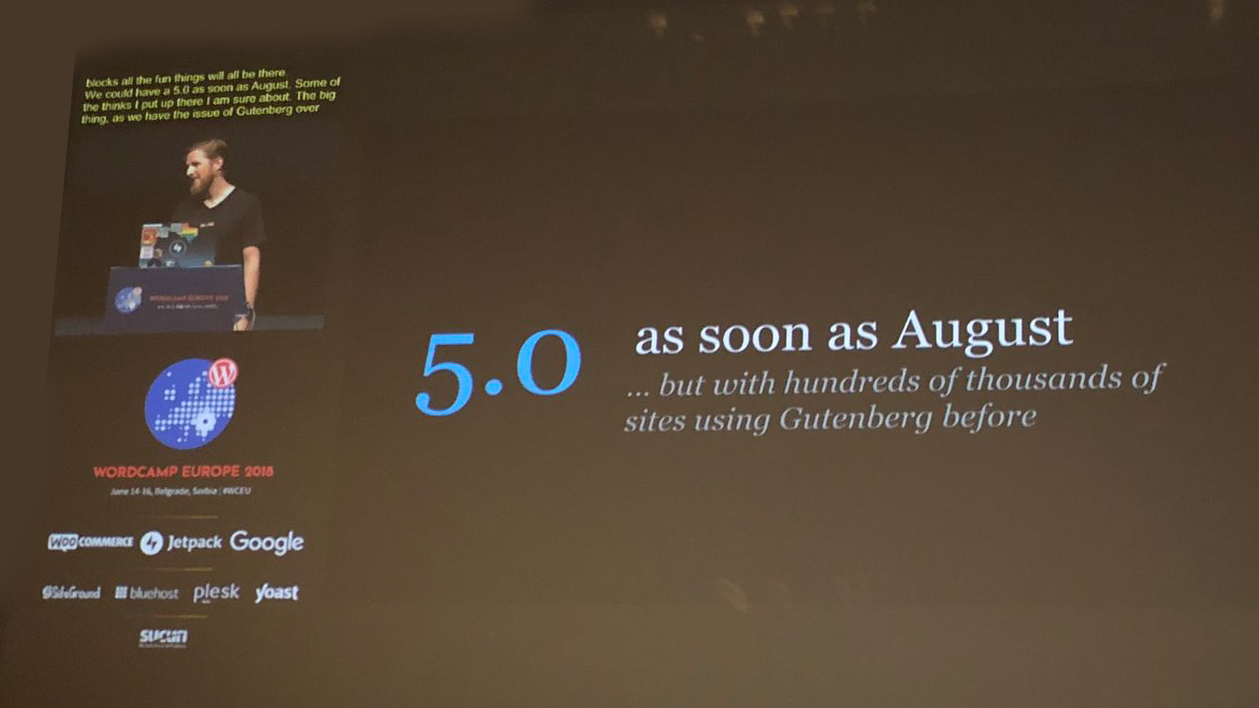 WordPress 5 as soon as August